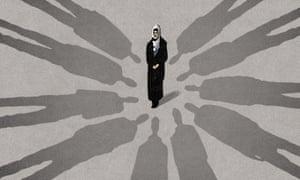 Muslim fear Illustration by Bill Bragg