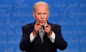 Democratic Presidential candidate and former US Vice President Joe Biden speaks during the first presidential debate.