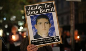 Reza Barati placard