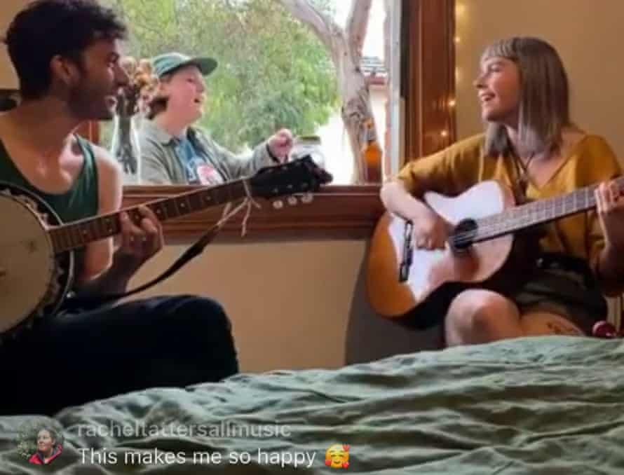 Hannah Blackburn invited her band in through the window.
