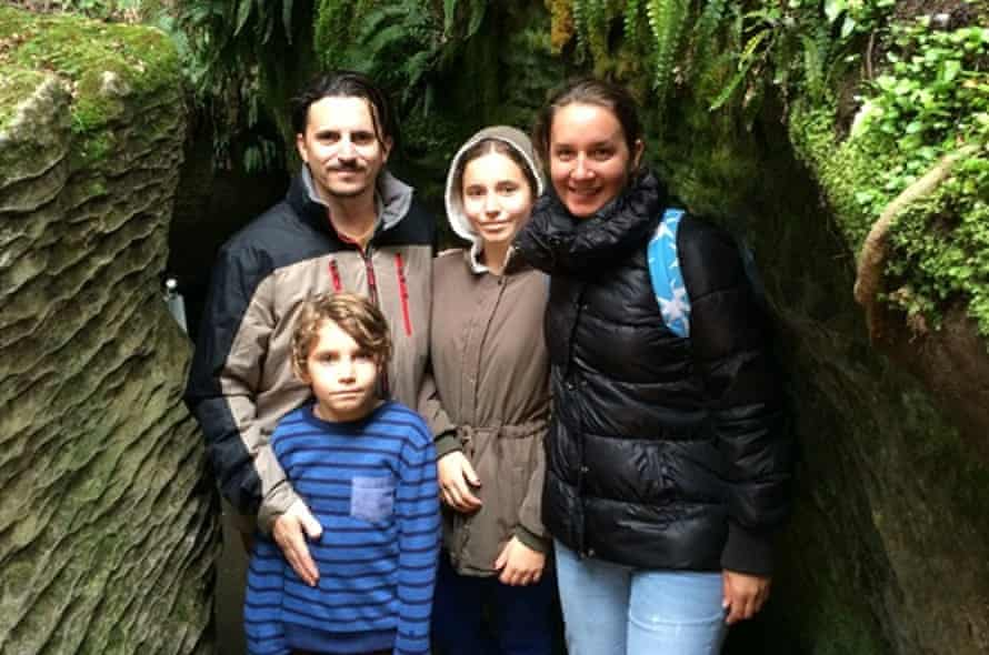 Valentino and Carly with their two children on holiday in 2016