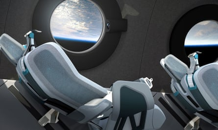 Interior cabin of billionaire Richard Branson's space travel firm VirginS Galactic's SpaceShipTwo