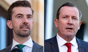 A composite image of West Australian Liberal leader Zak Kirkup and Labor premier Mark McGowan