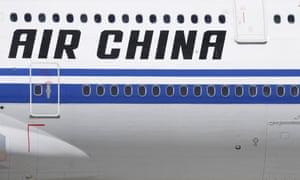 An Air China passenger jet at Beijing Daxing airport
