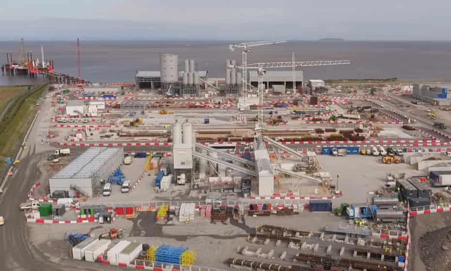 Hinkley Point C nuclear power station in Somerset