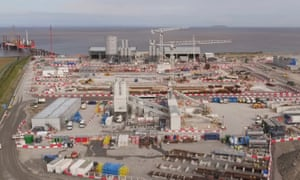 Work in progress at the Hinkley Point nuclear power plant in Somerset
