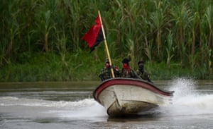The guerillas operate in a remote area of the country