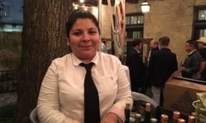 Mary Buentello White at a Border Security Expo reception at the Alamo.