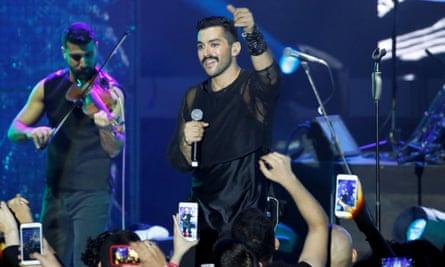 Hamed Sinno, lead singer of Mashrou' Leila.