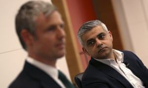 Zac Goldsmith and Sadiq Khan at hustings