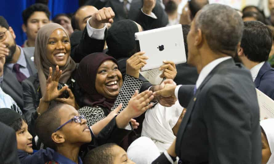 Obama at mosque in Baltimore