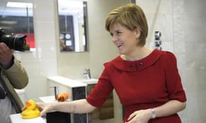 Scottish First Minister and Scottish National Party (SNP) leader Nicola Sturgeon in Ayr, south west of Glasgow.