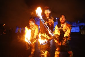 More performers at the torchlight procession