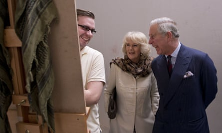 Prince Charles and the Duchess of Cornwall visit a drawing class at City & Guilds of London Art School.