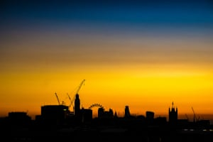 Its just a typical London skyline sunrise I got up earlier than usual and looked out of our 9th floor window towards east London just as the sun was rising, the silhouette and the colour changed rapidly as I grabbed my camera and shot this, a little post process in Lightroom ended up as this