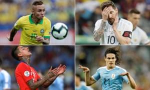 Everton, Leo Messi, Erick Pulgar and Edison Cavani have all scored in Brazil.