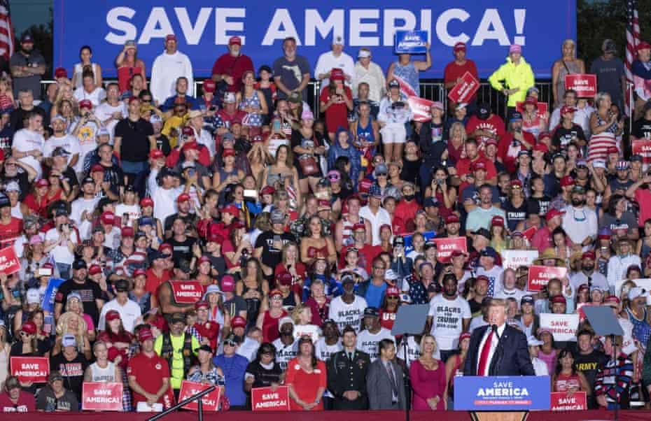 Donald Trump speaks in Sarasota, Florida, earlier this month.