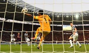 A fantastic save from Gianluigi Buffon.