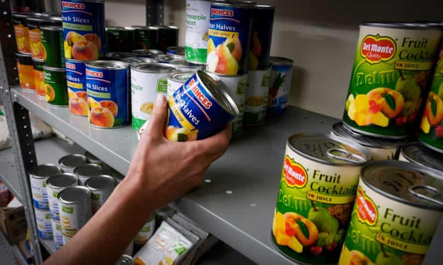 Tins of fruit