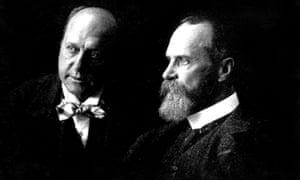 William James, right, with his brother Henry James.