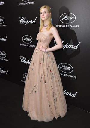 Elle Fanning in the Prada dress that made her faint