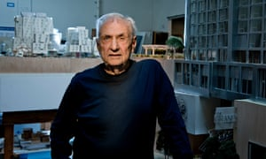 Frank Gehry photographed at his Los Angeles offices.