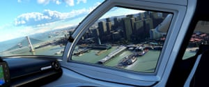 Microsoft Flight Simulator screenshot: a view from the cockpit.