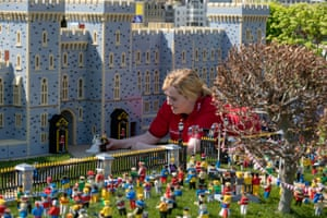 A scene created at LEGOLAND's Windsor resort depicting the wedding of Prince Harry and Meghan Markle.