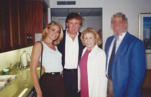 Dorris with Donald Trump at the US Open in 1997