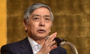 Bank of Japan governor Haruhiko Kuroda.