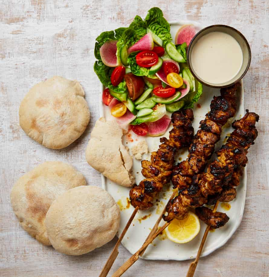 Perfect for pitta: Yotam Ottolenghi's seven-spice chicken with tahini.