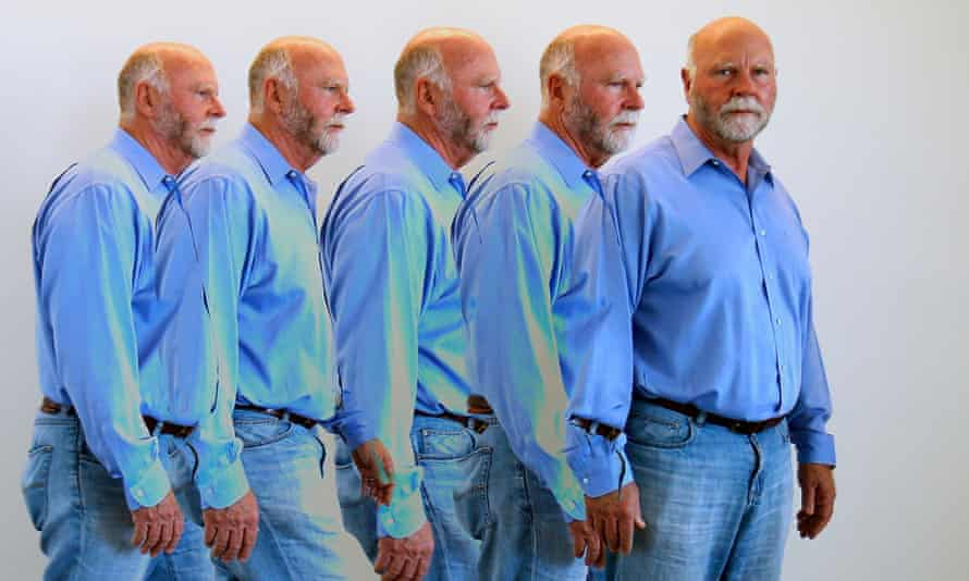 Genetic researcher Craig Venter is shown with a multiple camera exposure in his office in La Jolla, California. Venter's company, Human Longevity Inc, aims to sequence 40,000 human genomes a year in a search for new therapies to fight off diseases like cancer, heart disease and Alzheimer's.