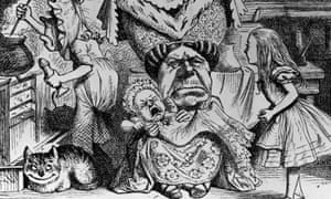 The Duchess, the baby, the cook … an illustration from Alice In Wonderland.