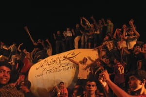 Gaza City residents celebrate Mohammed Assaf winning Arab Idol