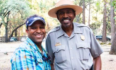 James Edward Mills with Yosemite national park ranger Shelton Johnson.