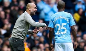 Pep Guardiola has been forced to use Fernandinho at centre-half.