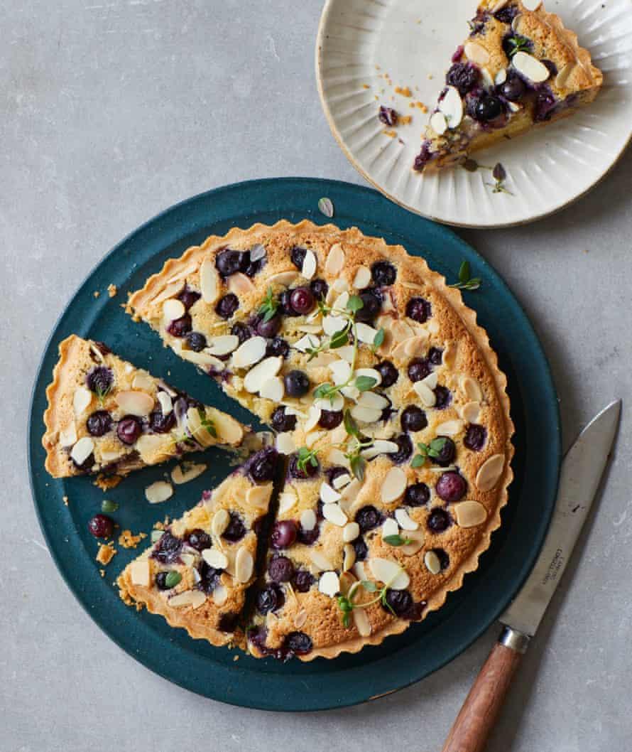 Benjamina Ebuehi's blueberry frangipane tart with fresh thyme.
