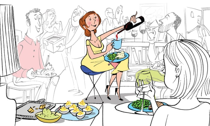 The new rules of dinner parties: don't be on time – and