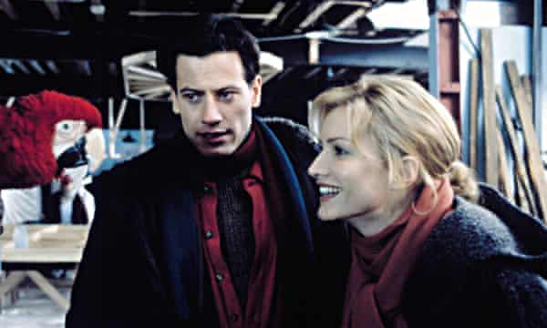 Gruffudd and Alice Evans on the set of 102 Dalmatians in 2000. They met during production and married in 2007.