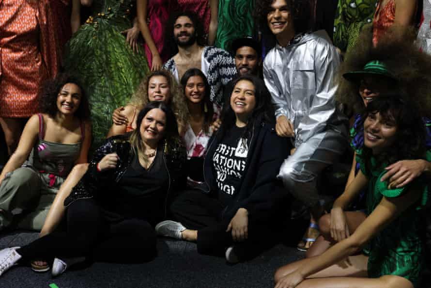 Behind the scenes at the First Nations Fashion + Design show during Afterpay Australian Fashion Week.