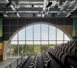 The auditorium in the new MK Gallery, designed by 6a architects
