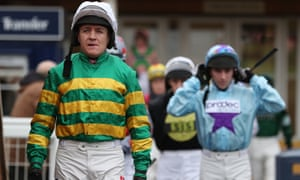 Barry Geraghty pictured at Newbury on Challow Hurdle Day.