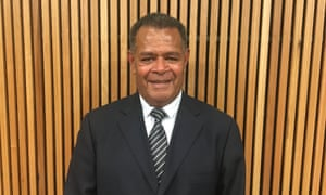 Daniel Goa, spokesperson for the FLNKS independence movement in New Caledonia