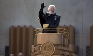 'Adults think we're too young to understand inequality' … Donald Sutherland as President Snow.