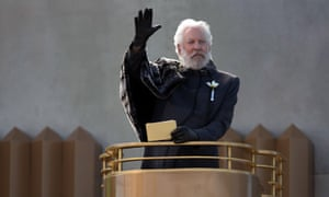 Donald Sutherland as Coriolanus Snow in The Hunger Games: Catching Fire.