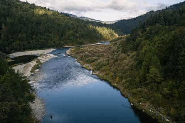 A view of the Klamath river from the community of Weitchpec, California, which is part of the Yurok Tribe reservation.