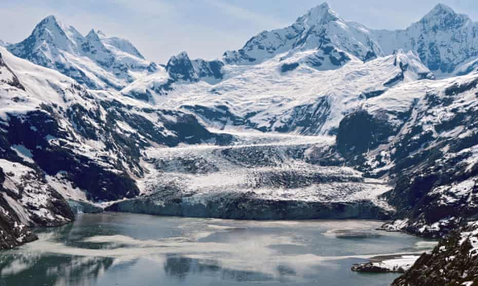 Johns Hopkins Glacier. It is one of more than 1,000 glaciers located within the boundaries of Glacier Bay national park, south-east Alaska.