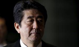 Japan's prime minister, Shinzo Abe