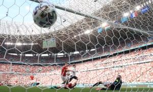 Antoine Griezmann of France celebrates after scoring their equaliser.