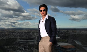 Bollywood superstar Shah Rukh Khan in Melbourne.